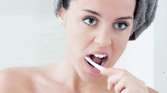 brushing teeth properly , health tips