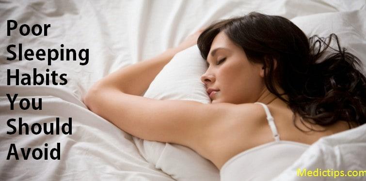 poor sleeping habits you should avoid