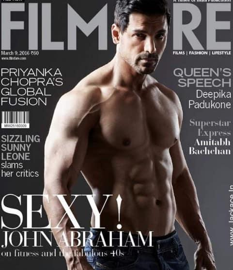 Sexy John Abraham body on Magazine