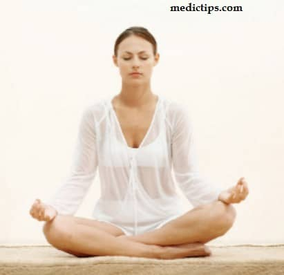 crossed legs posture for yoga and meditation