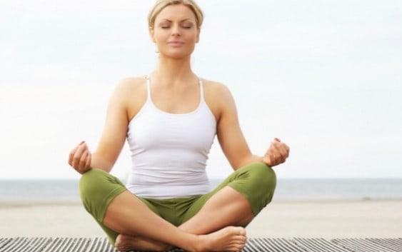 yoga and meditation posture