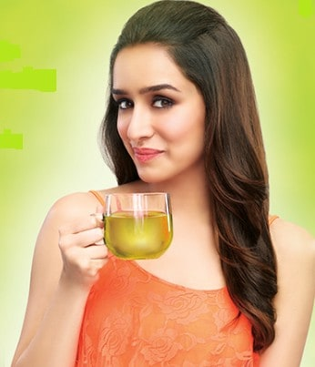 Shraddha Having Green Tea