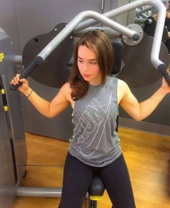 Emilia Clarke work out