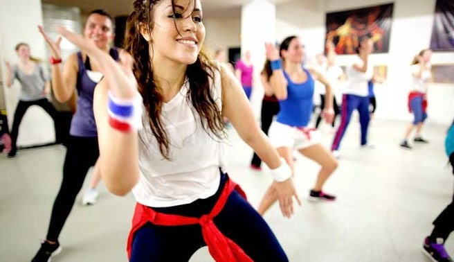 zumba dance workout for fitness and flexible body