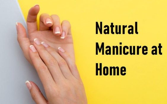 natural manicure at home with scrubs