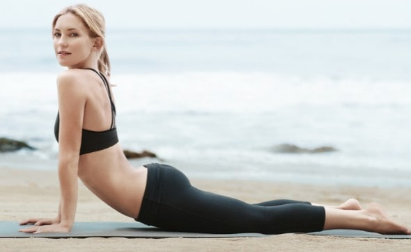 Kate Hudson performing yoga
