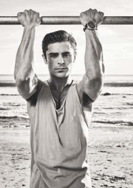Zac Efron workout muscular body