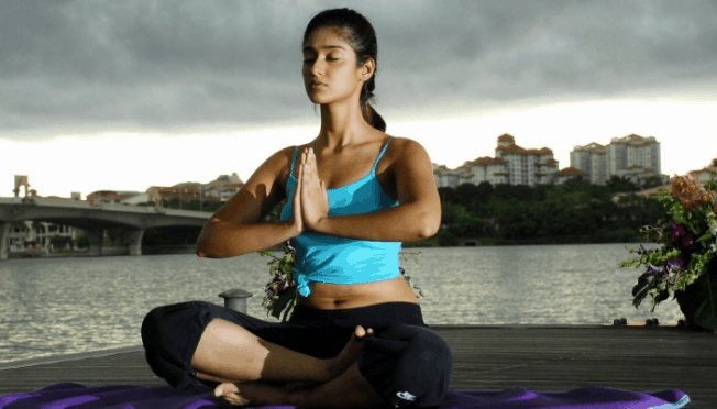 Ileana D'Cruz workout and fitness mantra yoga practice