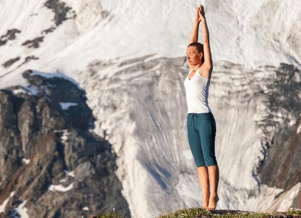 tadasana or mountain yoga pose for back pain relief
