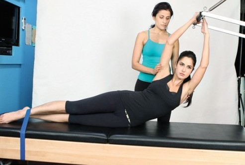 Katrina Kaif with gym trainer