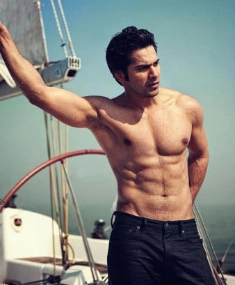 Varun Dhawan six pack abs