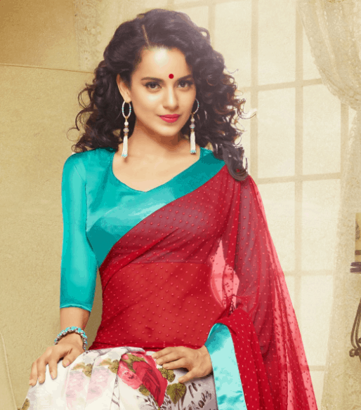 kangana ranaut in saree looking hot