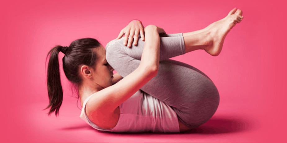 Pawanmukta asana or wind relieving pose