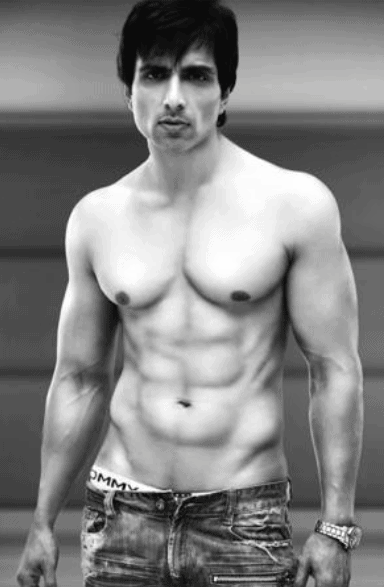 sonu sood 6 pack abs
