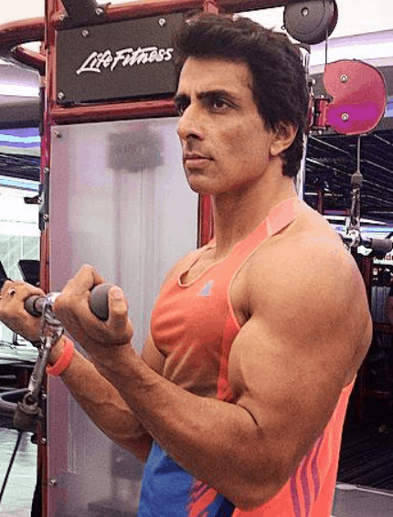 sonu sood gym workout body building