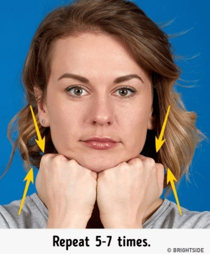 chin clap exercise for double chin