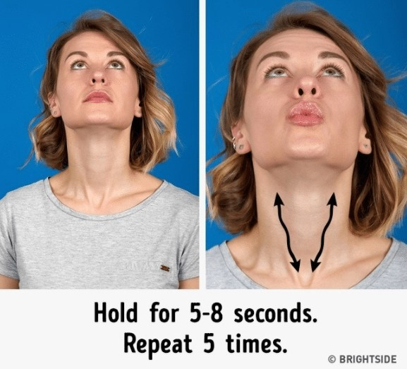 double chin easy exercise