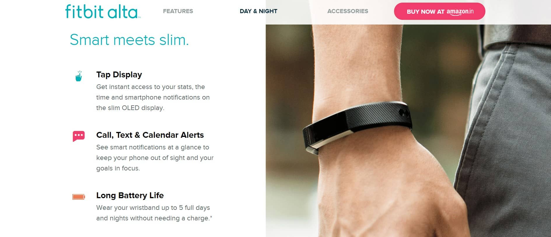 fitbit alta looks and features