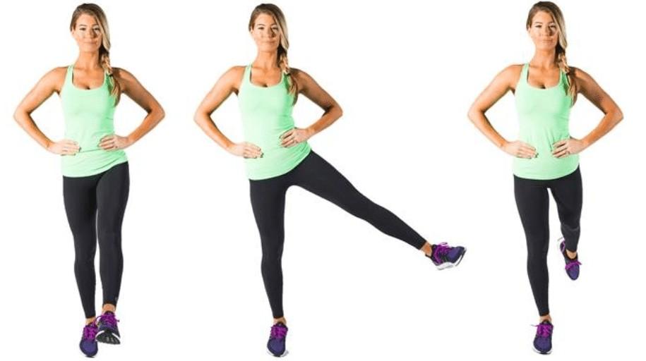 standing leg raise power yoga