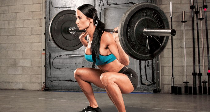 barbell squat position