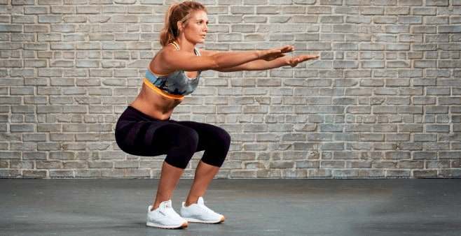 body weight squats workout