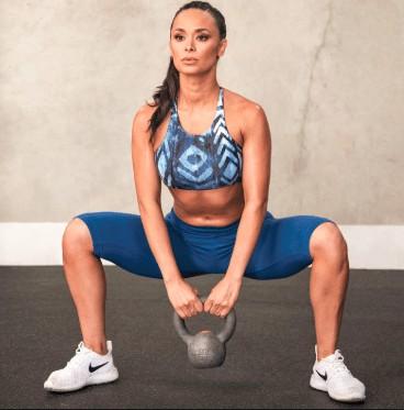 plie squat position