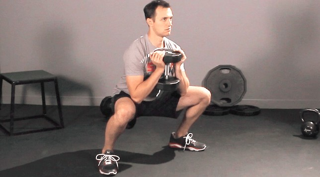 sumo squats position