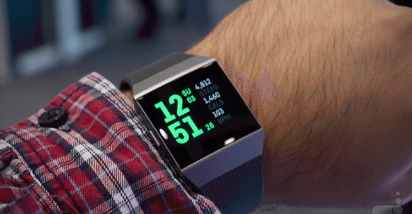 fitbit ionic display and design