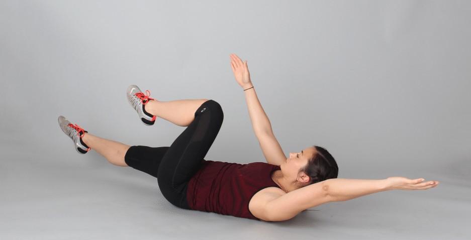 deadbugs exercises for abs for female