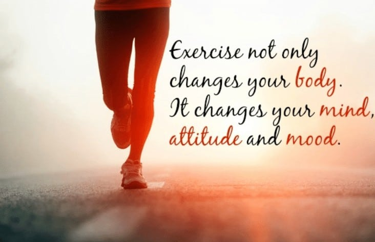 exercise makes you feel happy and good