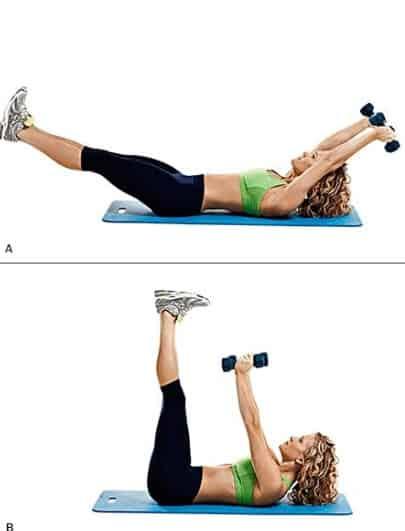 leg crunch abs workouts
