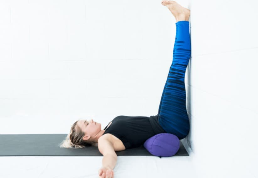 Leg up the wall pose or Viparita Karani