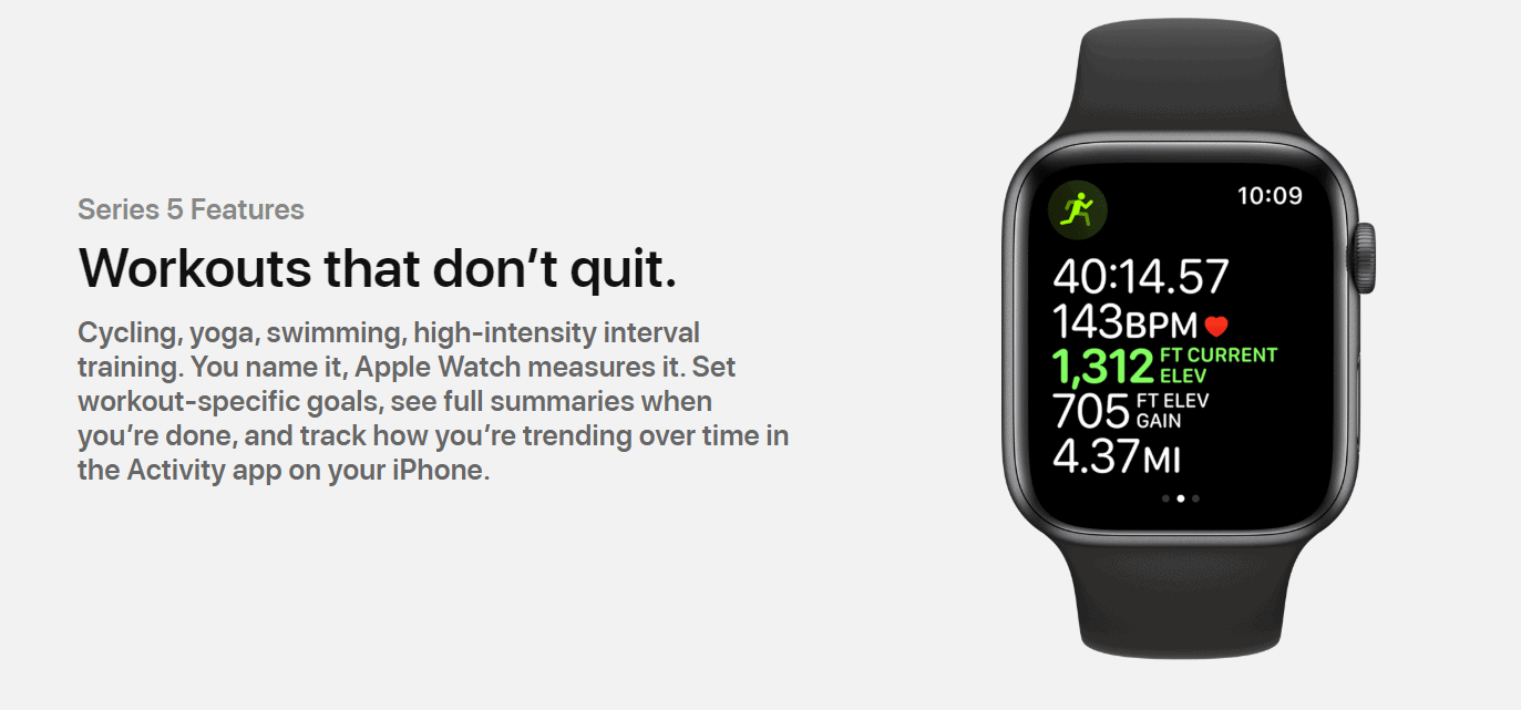fitness watch apple series 5