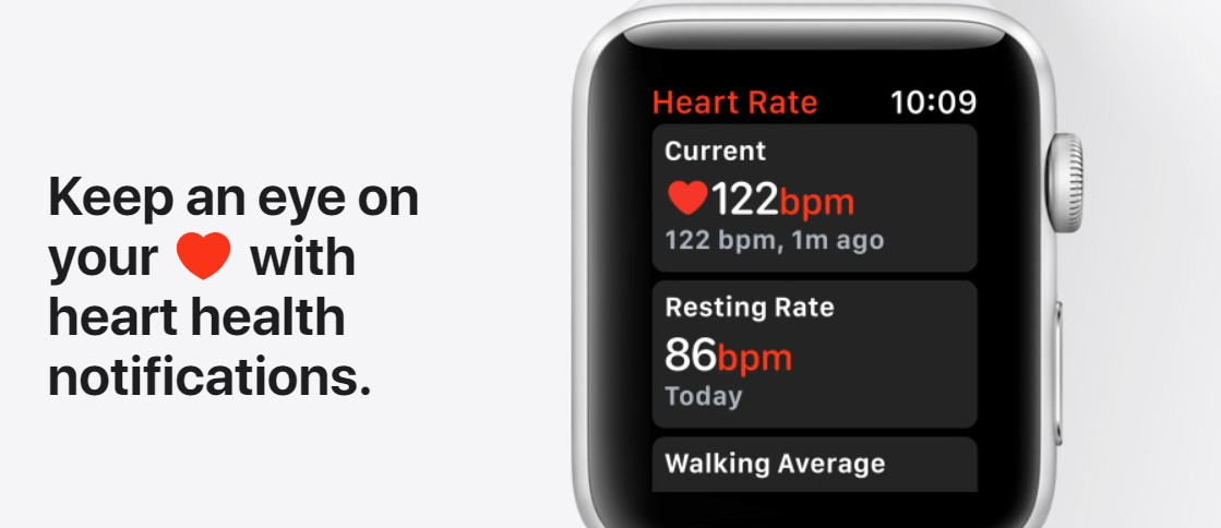 keep track of heart with apple watch