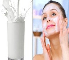 home-made products: milk cleanser