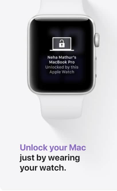 unclock macbook with series 3 apple watch