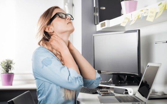 desk stretches to do for neck pain