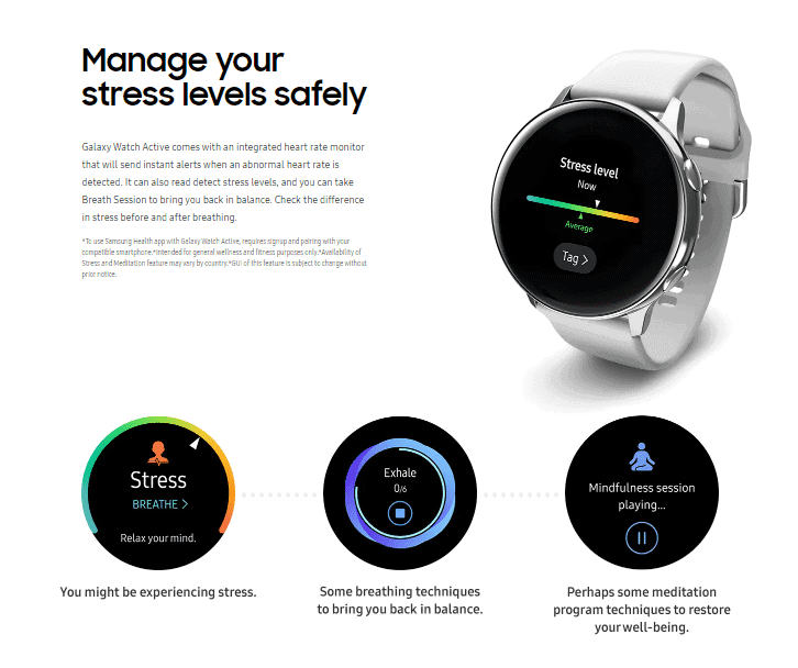 galaxy active smart watch features