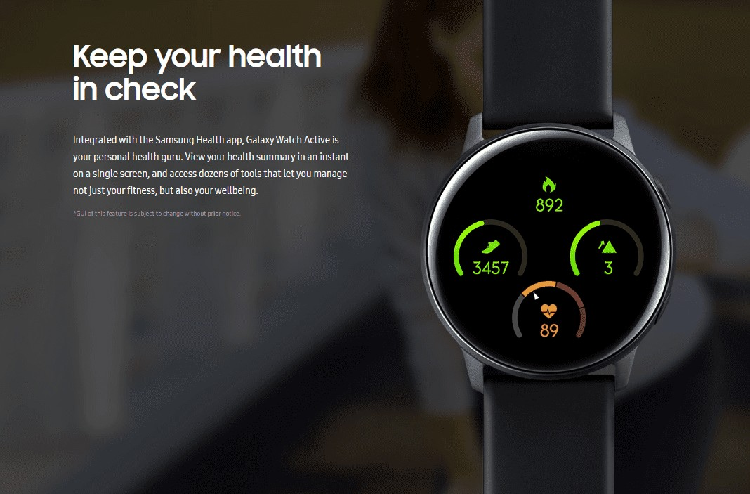 galaxy active smart watch health check
