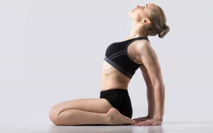 hero pose or VIRASANA