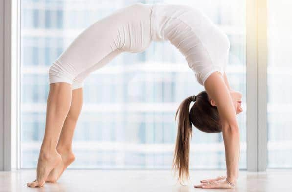 chakrasana or wheel pose