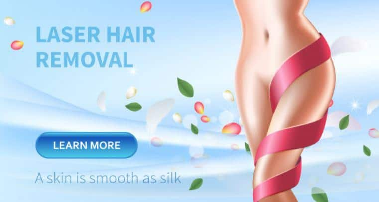 smooth skin with laser hair removal treatment