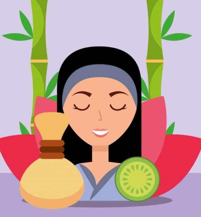 ayurvedic oil and natural herbs