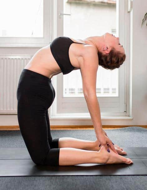 camel pose or Ustrasana yoga pose