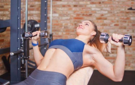 chest press workout to increase breast size