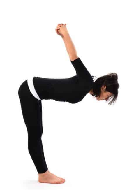 dwikonasana or double angle pose