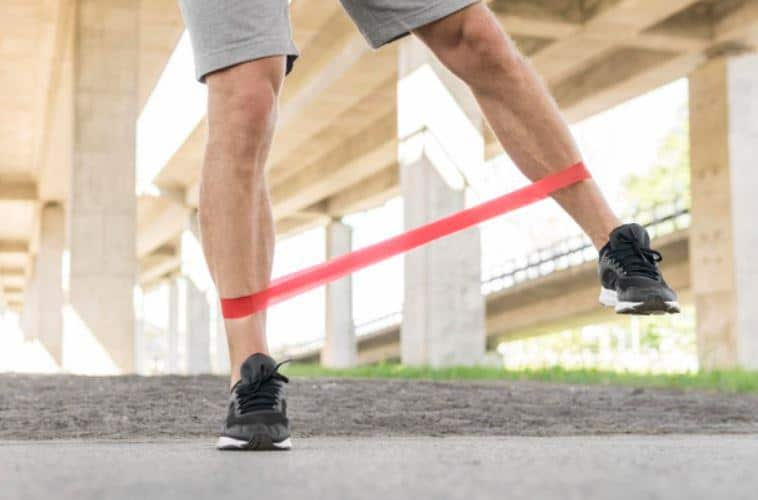 banded lateral walk legs workout