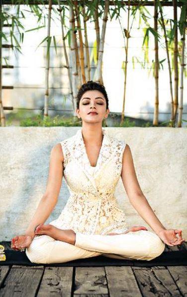 kajal aggarwal yoga fitness