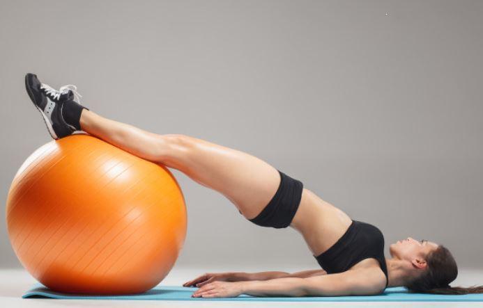 stability ball bridge workout