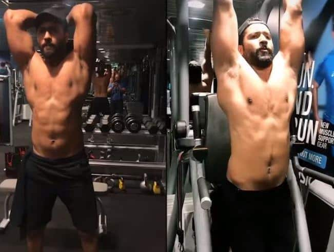 vicky kaushal workout gym